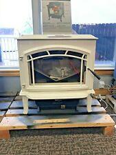 Poêle à bois autoportant en porcelaine blanche Quadra-Fire Explorer II