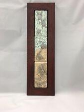 Medicine Bluff Triple Turtle Art Tile Arts & Crafts Mission Style Oak Park Frame