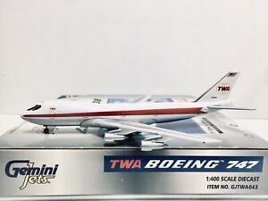 Gemini Jets 1:400 TWA BOEING 747-131 N93103 GJTWA043