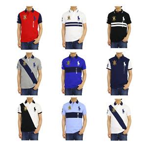 Polo Ralph Lauren Custom Slim Fit Big Pony Short Sleeve Polo Shirt w/ Emblem