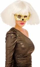 Morris Costumes Urban Future Domino Metallic Pop Star Poker Gold Mask. PM651027