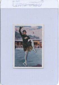 1928 Salem SONJA HENIE #123 Die Welt in Bildern Vintage Olympic Ice Skater Card