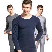 Men's Winter Thermal Underwear Set Long Johns Top & Bottom Warm Sleepwear Set