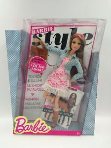 Barbie Style Mix & Match 100+ Looks Teresa Doll #BLR57 + Fashion Book, 2013 New