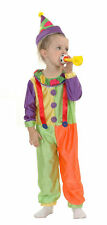 Toddlers Girls/Boys Circus Clown Fancy Dress/Outfit/Costume Age 3
