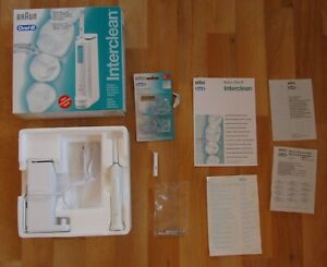 Oral B Braun 2025 Interclean Electric Flosser, Charger, Wall Mount and Filaments