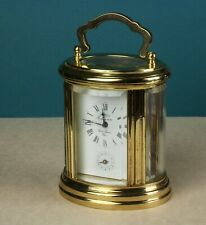 French L'Epee  Oval Carriage Clock with Alarm & Key - Reduced