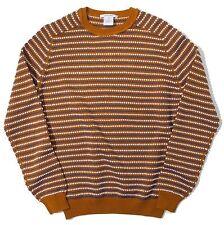 CARVEN Men's SWEATER Pullover KNITWEAR Micro Motif SHIRT XL