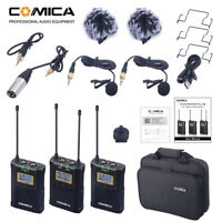 Comica CVM-WM100 Plus 48-Channels Wireless Lavalier Microphone System for Camera