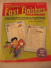 TEACHERS: Activities for Fast Finishers - VOCABULARY (Grades 4-8)