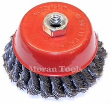 """Twist Knot Wire Wheel Cup brush 4"""" 100mm Cup fits 115mm 4-1/2"""" Angle Grinder"""