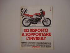 advertising Pubblicità 1986 MOTO HONDA NS 125 F