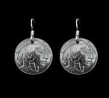 Vintage Buffalo Nickle Earrings Boho Chic Native American Indian Head