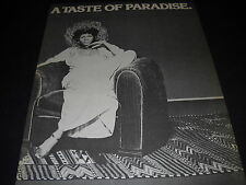 Minnie Riperton Taste Of Paradise 1975 Promo Display Ad mint condition