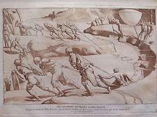 PESCATORI RITIRANO LE RETI su disegno G. Romano  acquaforte origin. 1729 Crozat