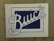 """Vintage Buick blue square sticker decal 4""""x3.1"""""""