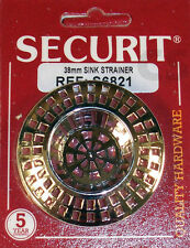 Securit Sink Strainer Chrome Plated 38mm S6821  **FREE UK POSTAGE**