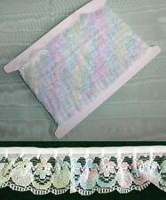 Gathered Lace - Multi Coloured - 10 metres (188) 1 Break