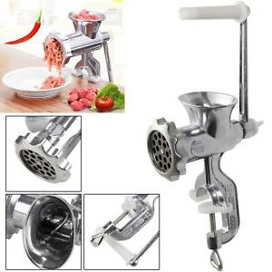 Adjustable Heavy Duty Hand Operated Manual Kitchen Meat Mincer Grinder