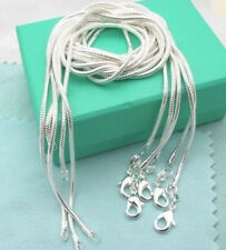 """Sterling Silver Plated Snake Chain Necklace Wholesale Lot of 5 Liquidation 20"""""""