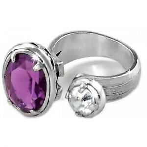 NWT Brighton GRACEFUL Ring Your True Color Purple Amethyst Size 8 MSRP $58..