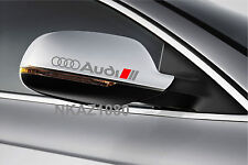AUDI Vinyl Decal sticker Sport Racing mirror emblem SILVER/RED