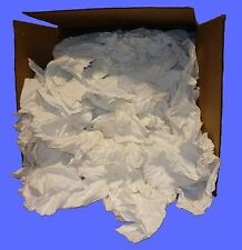 Rags White Sheeting - Cut 15 X 15  Recycled 50 lbs