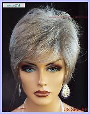 Synthetic Short Hair Wig for Women  COLOR GREY #51 SALT & PEPPER CUTE STYLE 1139