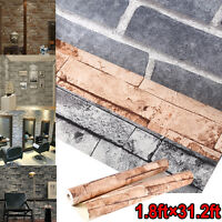 3D Wallpaper Bedroom Mural Roll Modern Stone Brick Wall Background Textured Art