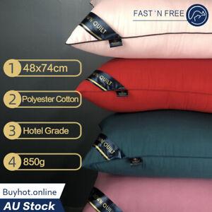 Bedding Pillows Family Hotel Standard Pillow Medium Firm Polyester Cotton 850g
