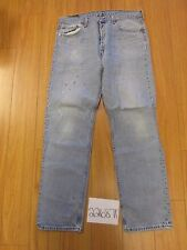 used Levi 501 USA repairs grunge feathered jean tag 38x34 Meas 35x33 22687F