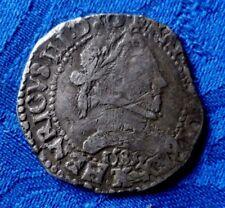 RARE MONNAIE EN ARGENT HENRI III 1589 K BORDEAUX