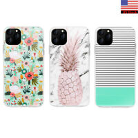 Flower Pineapple Stripe Marble Shockproof Back Case Cover For iPhone 11 Pro Max