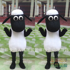 Cartoon Sheep Mascot Costume Walking Anime Clothes Lamb Fancy Dress Adult Parade