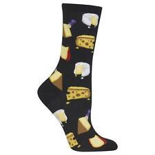 Gourmet Cheese Trouser Crew Socks Black BG NWT Women's Sock Size 9-11 HOTSOX