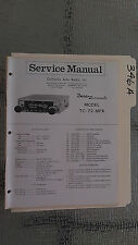 Boman tc-72-mpx service manual original repair book stereo am fm car radio