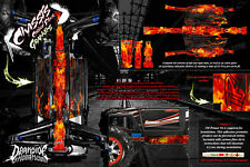 TRAXXAS E-REVO SUMMIT CHASSIS 'HELL RIDE' HOP UP GRAPHICS FITS OEM PARTS FLAMES
