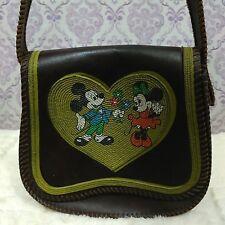 Vintage Disney Minnie Mickey Purse Mini Handbag 60s 70s WDP Beaded Faux Leather