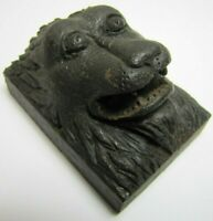 Antique Carved Wooden Monster Devil Dog Beast Architectural Hardware Element