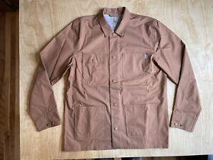 Carhartt Work In Progress Jacket Powel Coat Rain Snap Size XL WIP Tan Chore Nice
