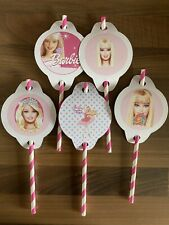 5 Barbie Straw And Topper Party Bag Filler