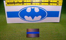 Thin Blue Line Batman Decal Plus a TBL Mini Decal Included -SHIPS FREE! PBA -FOP
