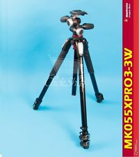 Manfrotto MT055XPRO3 Aluminum Tripod with MHXPRO-3W 3-Way Pan/Tilt Head
