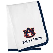 Auburn Tigers Personalized Baby Blanket