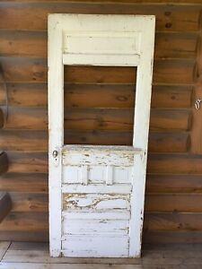 Antique Vintage Wood Wooden Victorian Door