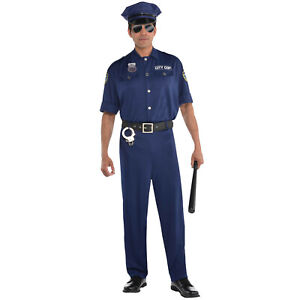 Mens Policeman Fancy Dress Sexy PC Officer Cop Uniform Stag Adults Costumes