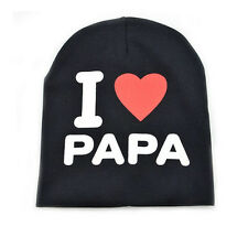 CuteI love Mama/Papa Toddler Kids Baby Infant Soft Cotton Warm Beanie Hat Cap