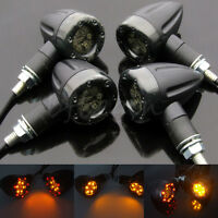 4x Universal Motorcycle LED Amber Lamp Rear Turn Signal Brake lights Indicators