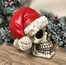 Large Santa Claus Skull Decoration Funny Gothic Christmas Ornament SK184