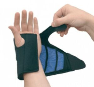CARPAL TUNNEL SPLINTED WRIST SUPPORT THERAPY BRACE WITH HOT/COLD THERMA-GEL